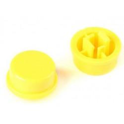 Boton amarillo para pulsador SW026573 12x12mm