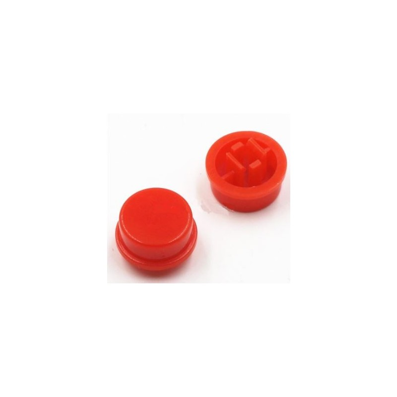 Boton rojo para pulsador SW026573 12x12mm