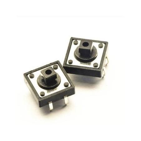 Pulsador 12x12mm 4 patillas circuito impreso