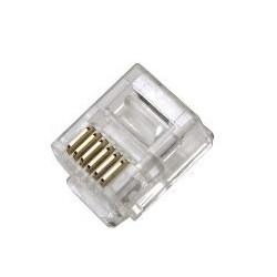 CONECTOR MODULAR TELEFÓNICO RJ12