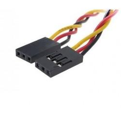 Cable Dupont 20cm3 vias 2,54mm hembra-hembra