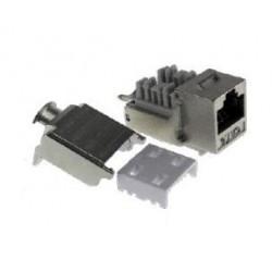 CONECTOR HEMBRA Cat6A FTP
