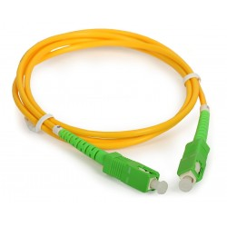 Conexion fibra óptica SCAPC/SCAPC 25mts