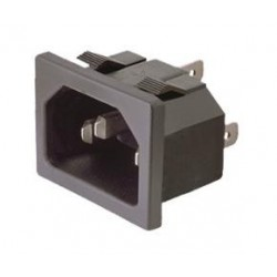BASE DE CONECTOR IEC 60320 C14 EMPOTRABLE