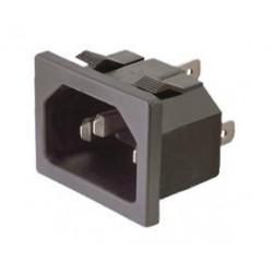 BASE DE CONECTOR IEC 60320 C14 EMPOTRABLE