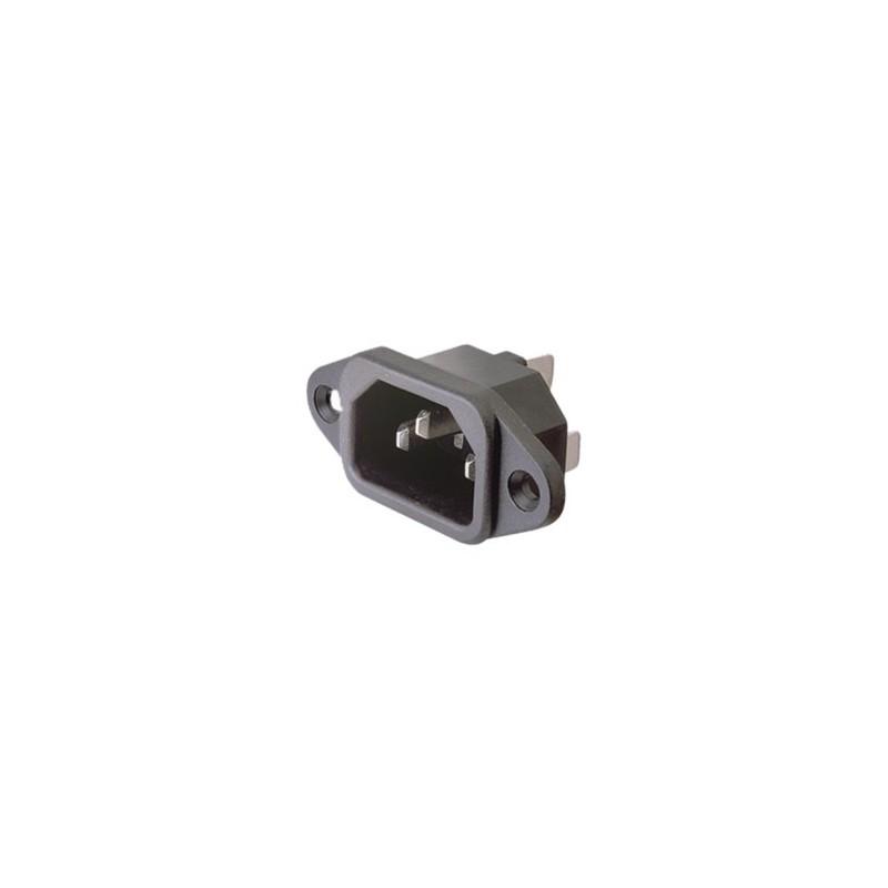 CONECTOR IEC60320 C14 MACHO CHASIS