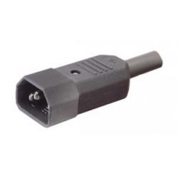 CONECTOR IEC60320 C14 AEREO MACHO