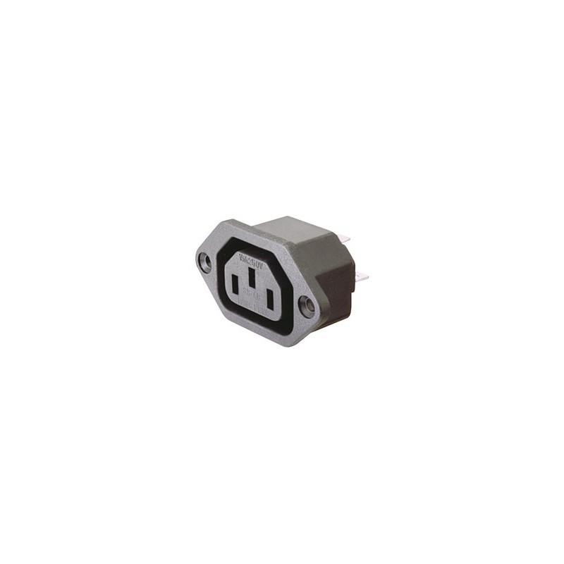 CONECTOR IEC60320 C13 HEMBRA CHASIS