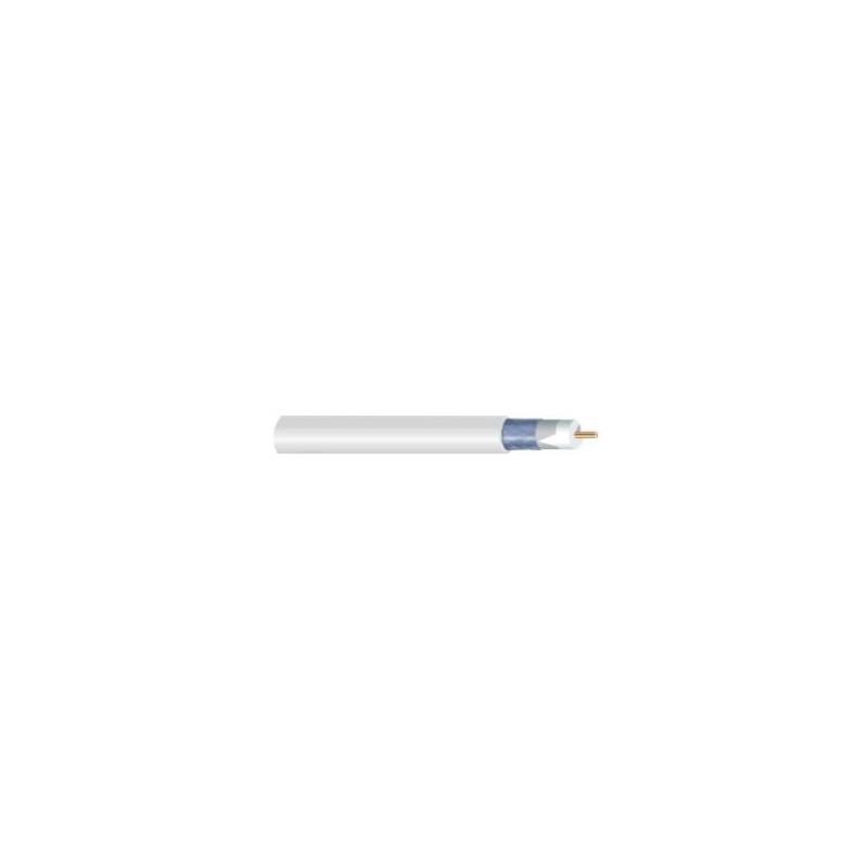 CABLE COAXIAL CC CU102 AC/CA PVC BLANCO 1m