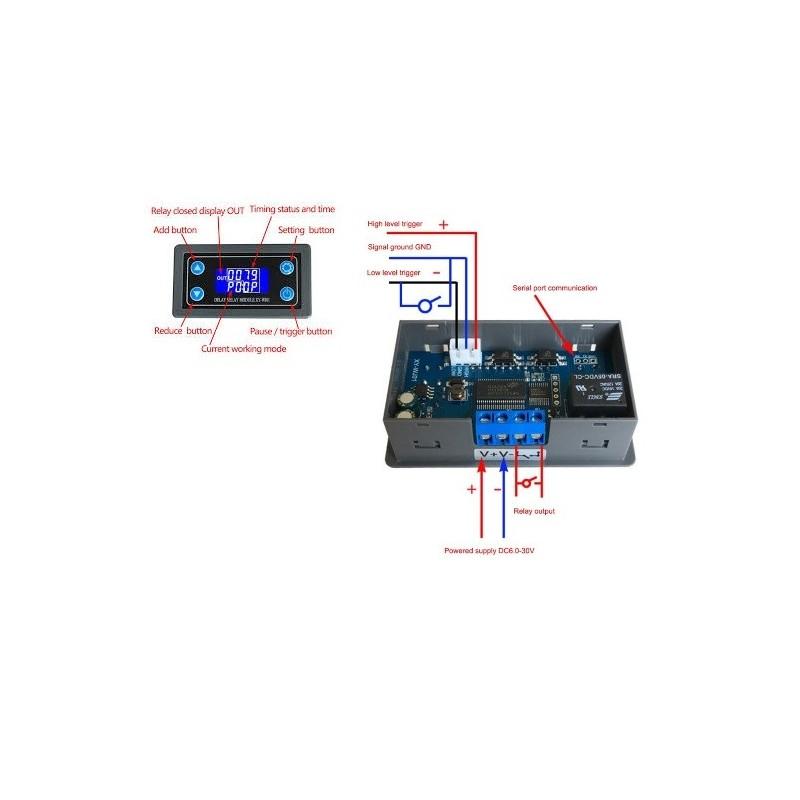 XY-WJ01 RELE DE RETARDO CON TEMPORIZADOR DIGITAL