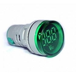 VOLTIMETRO LED VERDE DE PANEL 12-500V AC