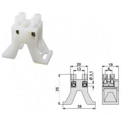 Regleta con soporte para tubos LED y fluorescentes