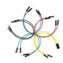Juego 10 cables macho-hembra 155mm varios colores