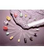 Diodos led de distintos tipos, optoacopladores, display, optoelectronica