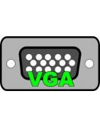 Conexiones, cables SVGA HD alta densidad con filtros de ferrita.