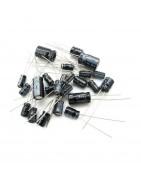 Condensadores electroliticos radiales y axiales en diferentes capacidades