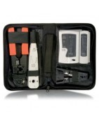 Herramientas para instalación y mantenimiento de redes y líneas telefónicas.