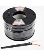 Manguera y cable apantallado para audio y video, paralelo apantallado.
