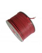 Cable paralelo blanco polarizado, rojo y negro y libre de oxígeno