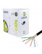 Cable manguera UTP CAT.5e y CAT.6 rígido para datos.